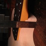 "Fretboard 3/8"" above body"